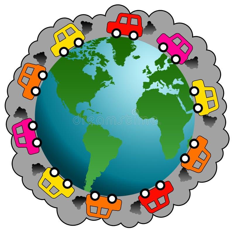Car pollution vector illustration
