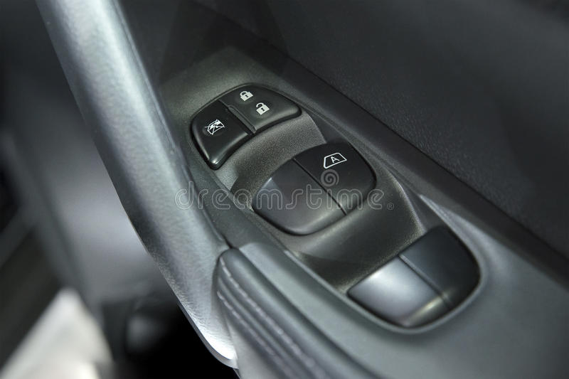 Car power window control switch stock photography