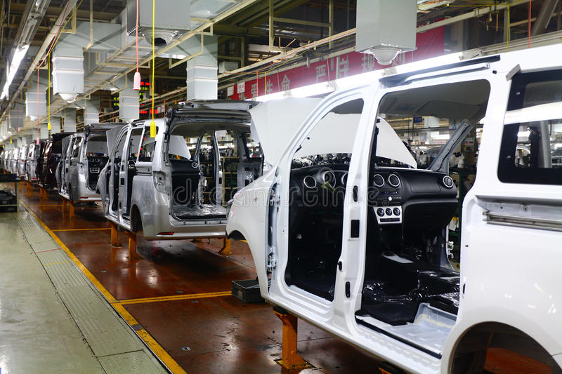 Car production line royalty free stock photography