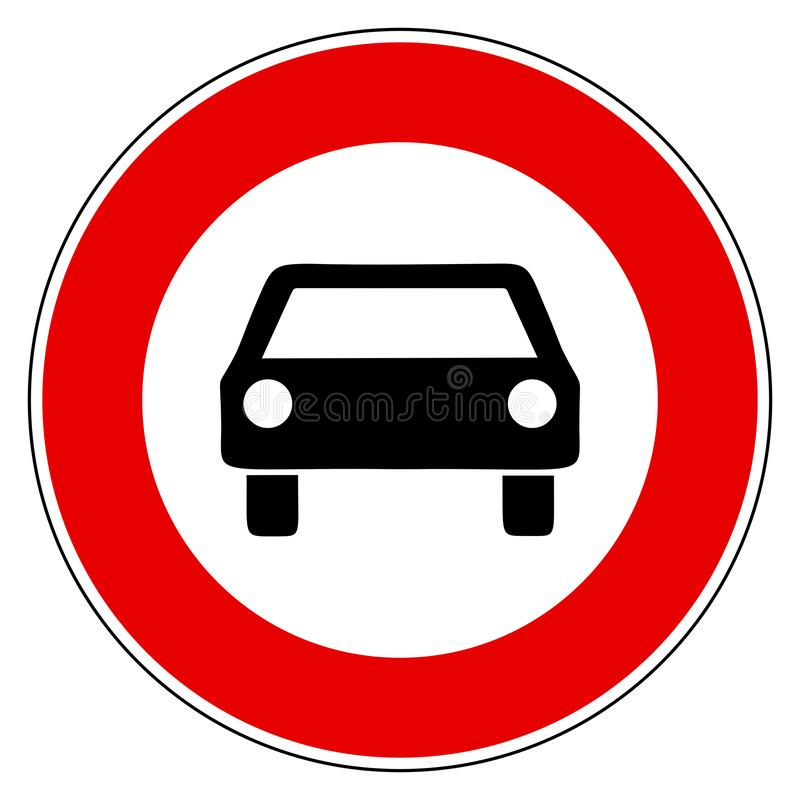 Car and prohibition sign. As vector illustration vector illustration