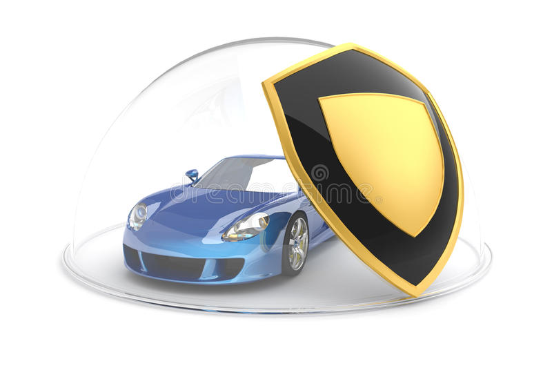 Download Car protection stock illustration. Image of property - 10893664