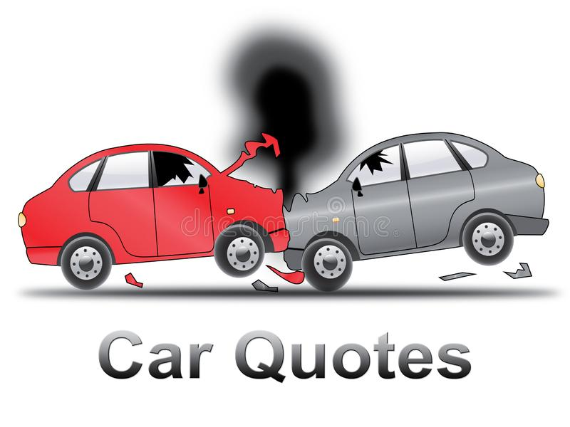 Car Quotes Shows Auto Policy 3d Illustration royalty free illustration