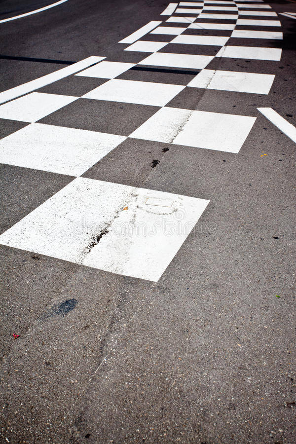 Car race asphalt. And curb on Monaco Montecarlo Grand Prix street circuit royalty free stock photos
