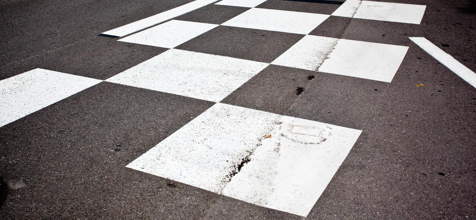 Car race asphalt. And curb on Monaco Montecarlo Grand Prix street circuit stock image
