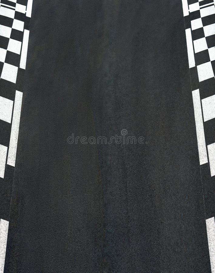 Car race asphalt on Grand Prix street track. Car race asphalt and chess curb on Grand Prix street track stock images