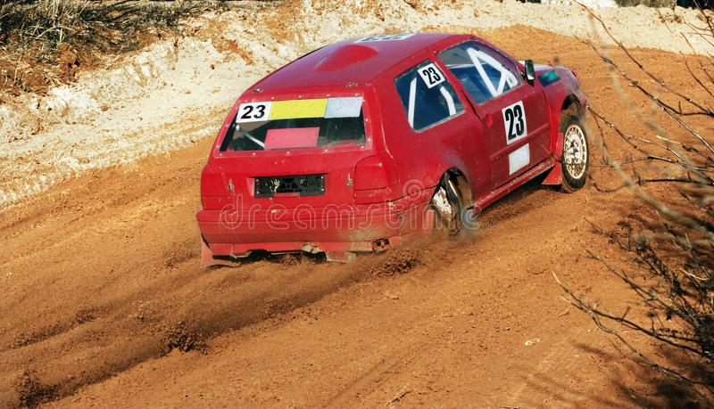 The Car On Races Stock Images