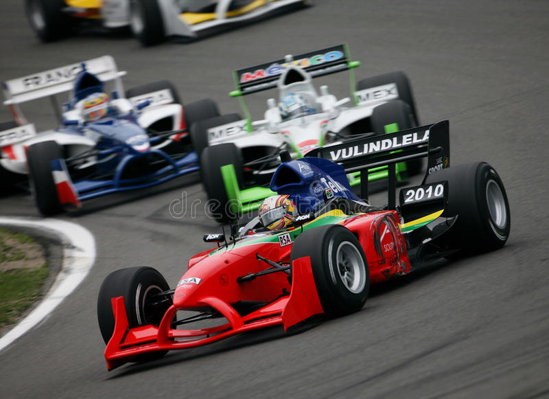 Car Racing(A1 GP) royalty free stock image