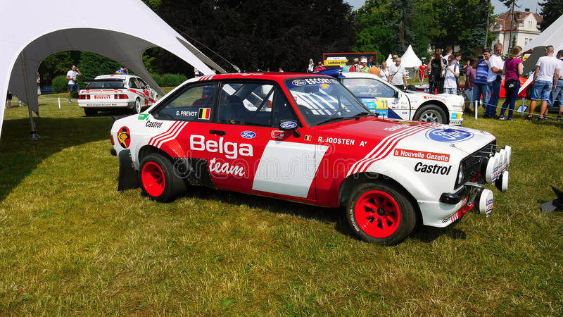 Car Racing, Auto Race, Rally. Ford Escort racing car - Legends 2015 - Motoring Festival in Prague stock image