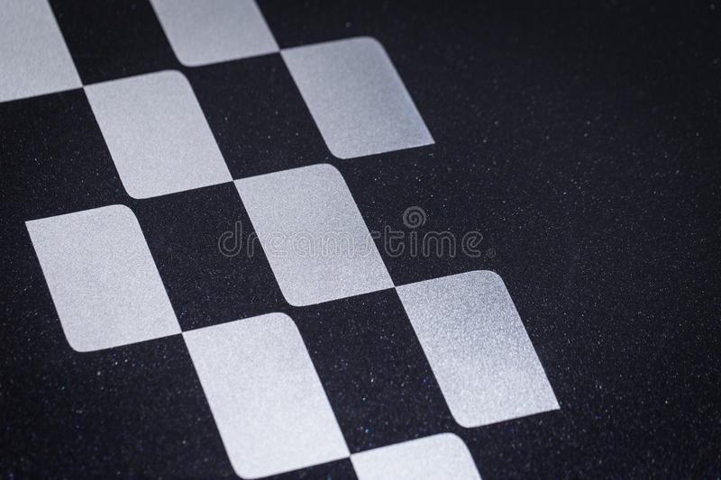 Car racing crossed checkered or finish flag pattern royalty free stock photo