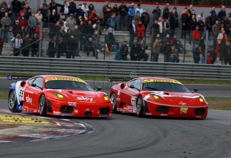 Car Racing(Ferrari F430,FIA GT) royalty free stock images