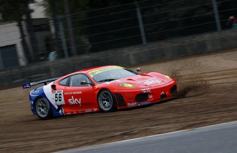 Car Racing(Ferrari F430,FIA GT) royalty free stock photos