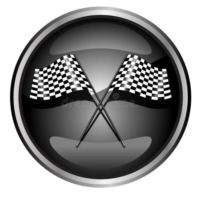 car racing flag vector illustration
