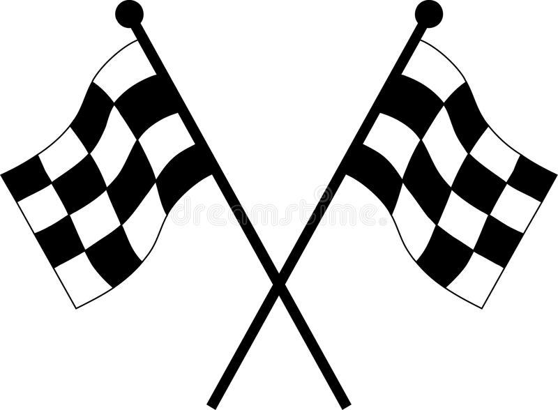 Car racing flags stock vector. Illustration of checkered ...