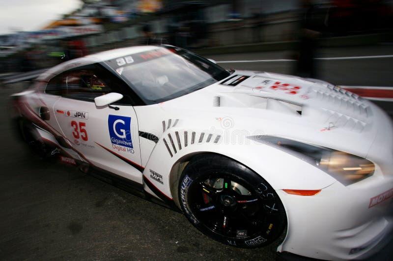 Car Racing(Nissan GT-R,FIA GT). Nissan GT-R,FIA GT Round.8=FINAL: in BELGIUM,Circuit Zolder;October 24. 2009. GT1 Class No.35 Darren TURNER(GBR)/Michael KRUMM( royalty free stock photo