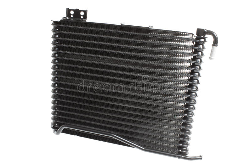 Car radiator cooling oil in an automatic transmission isolated on white background. Horizontal photo royalty free stock photo