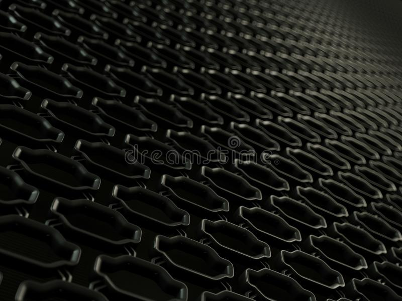 Car radiator grille close-up background texture royalty free illustration