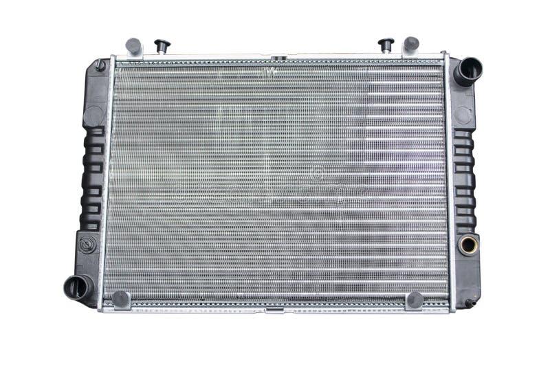 Car radiator isolated over white royalty free stock image