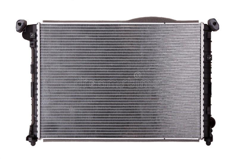 Car radiator on white background stock photo