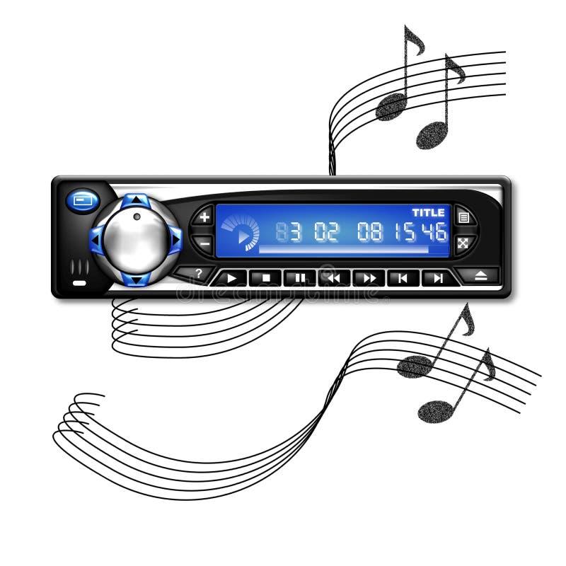 car radio vector illustration
