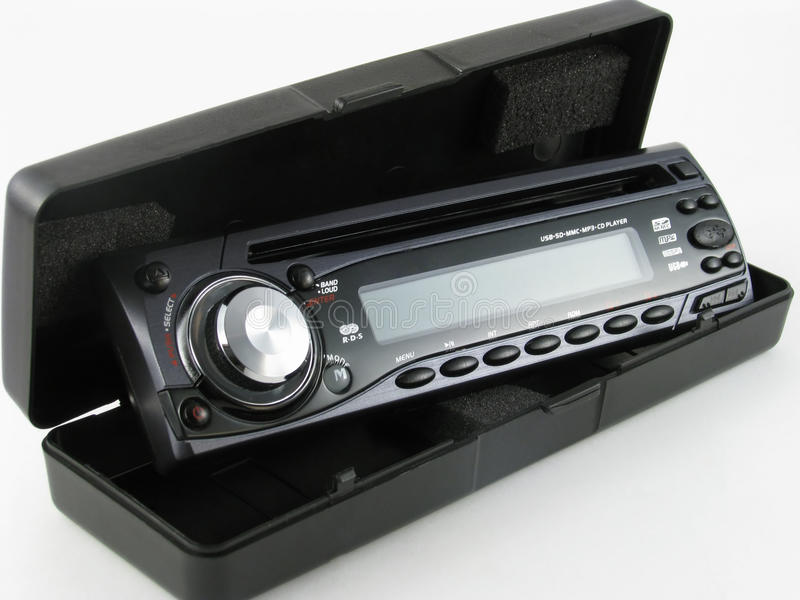 Car radio with CD. royalty free stock photos