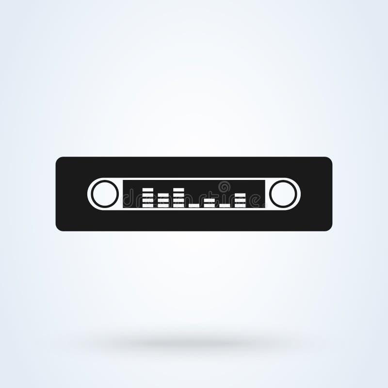 Car radio. Single flat icon on white background. Vector illustration royalty free illustration