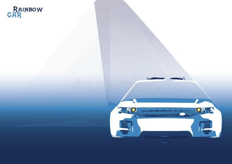 Download Car rainbow stock vector. Image of baby, asphalt, rainbow - 7256730