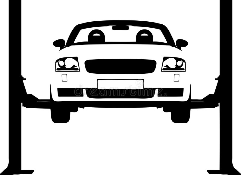 Download Car ramp stock vector. Image of ramp, auto, mend, hydraulic - 4703710