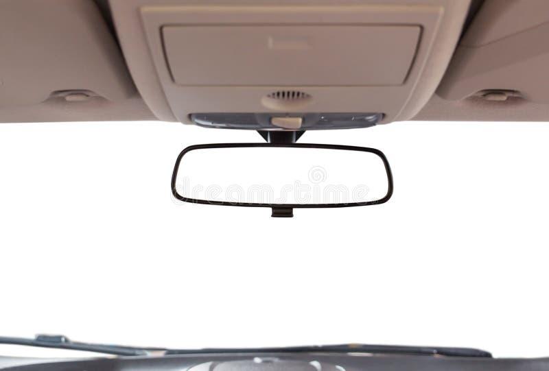 Car rear view mirror. Car rear view mirror inside the car stock image