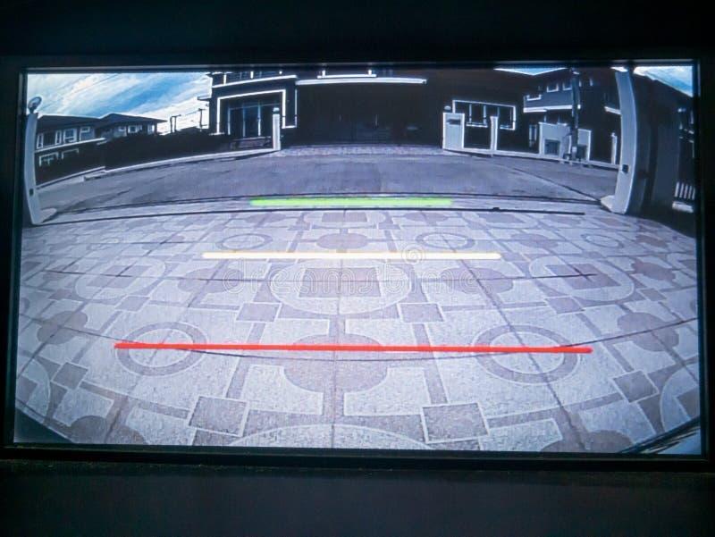 Car rear view video camera screen monitor display royalty free stock photos