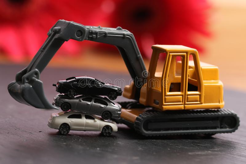 Car recycling stock photography