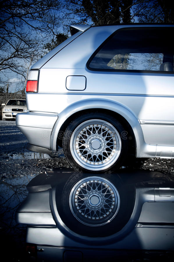 Car reflection royalty free stock photography