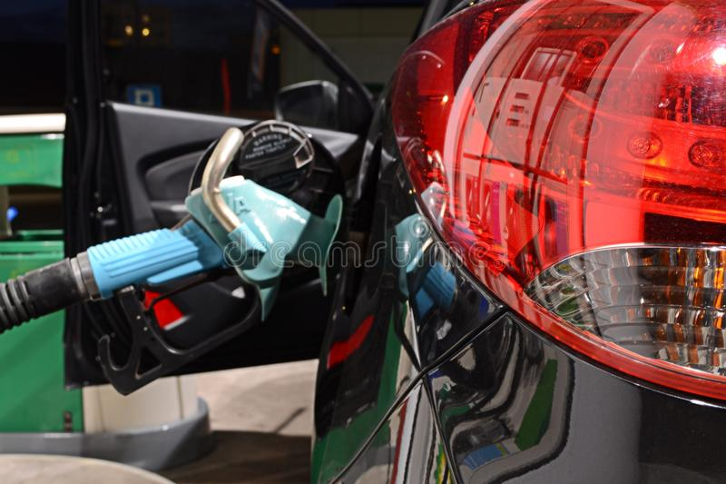 Car refueling royalty free stock photos