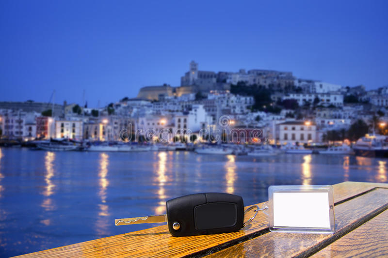 car rental keys on wood table in ibiza town stock photo. Black Bedroom Furniture Sets. Home Design Ideas