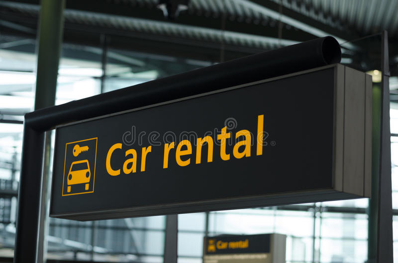 Car rental sign stock photos