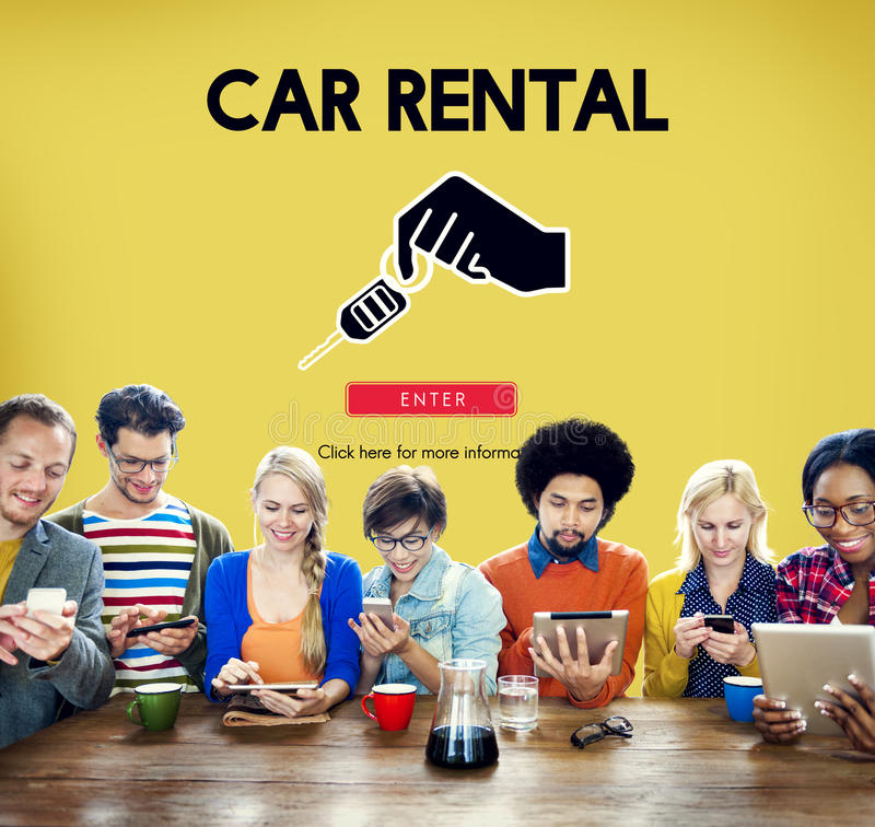 Car Rental Used Car Transportation Vehicle Concept royalty free stock images