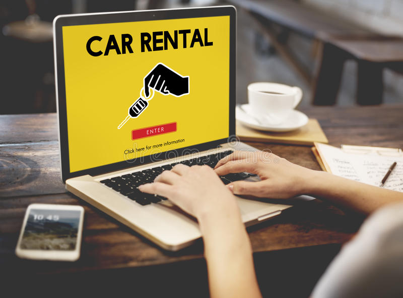 Car Rental Used Car Transportation Vehicle Concept stock photos