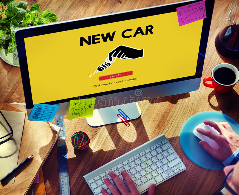 Car Rental Used Car Transportation Vehicle Concept stock image