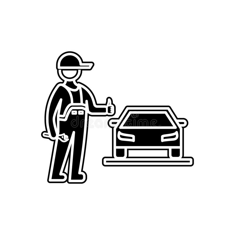 Car repair is completed icon. Element of Cars service and repair parts for mobile concept and web apps icon. Glyph, flat line icon. For website design and royalty free illustration