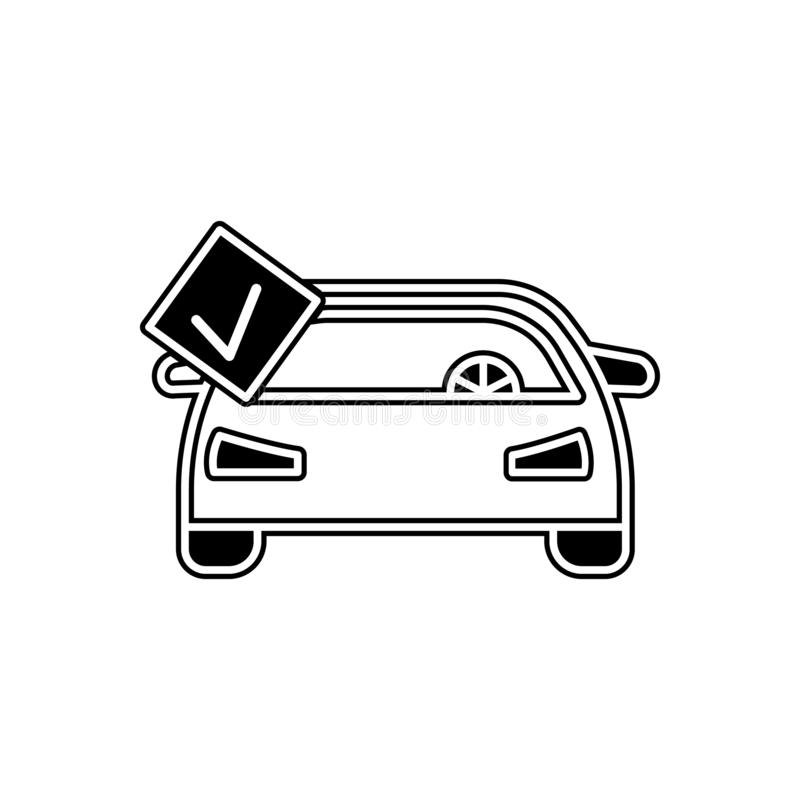 Car repair is completed icon. Element of Cars service and repair parts for mobile concept and web apps icon. Glyph, flat line icon. For website design and stock illustration