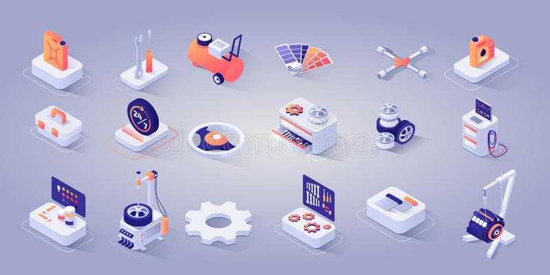 Diagnostic Checkup Equipment for Repair Service vector illustration