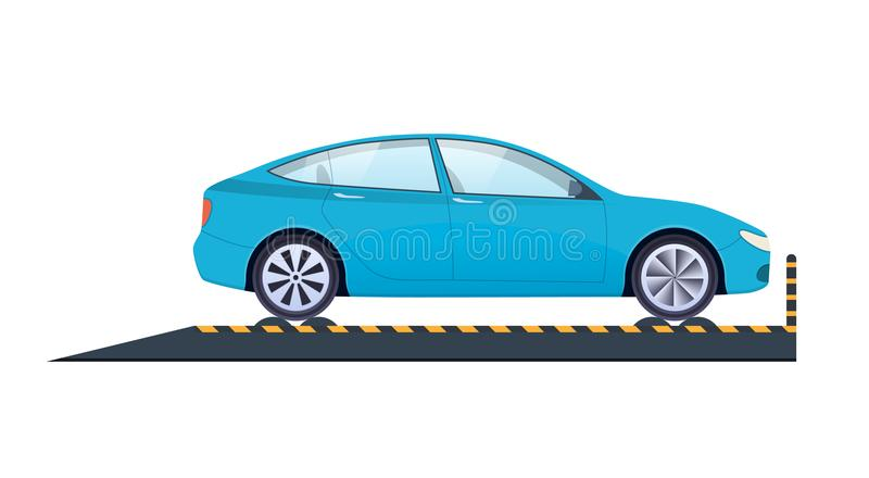 Car repair. Car service. Carrying crash test, diagnostics, technical inspection. Car repair and service. Mechanic repairs, diagnostics car, equipment, auto royalty free illustration