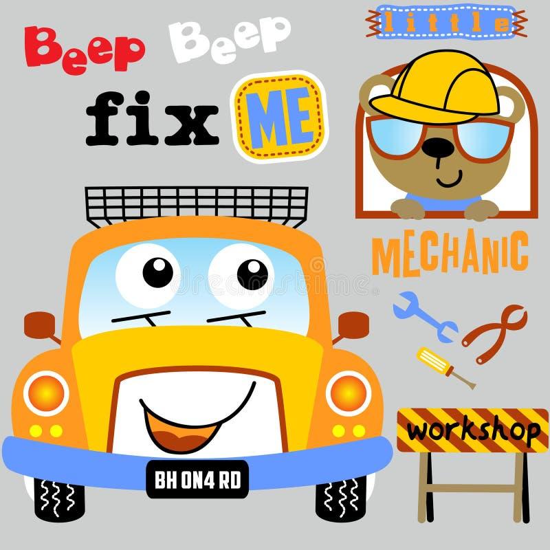 Car repair shop vector illustration