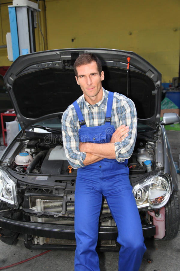 Car repairer stock images