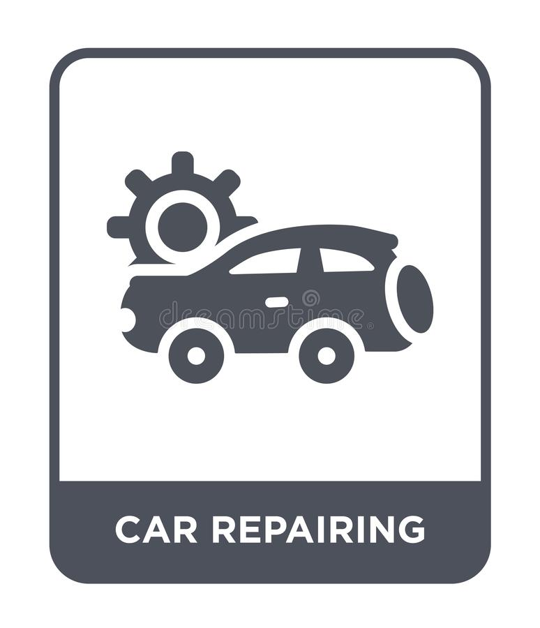 car repairing icon in trendy design style. car repairing icon isolated on white background. car repairing vector icon simple and stock illustration