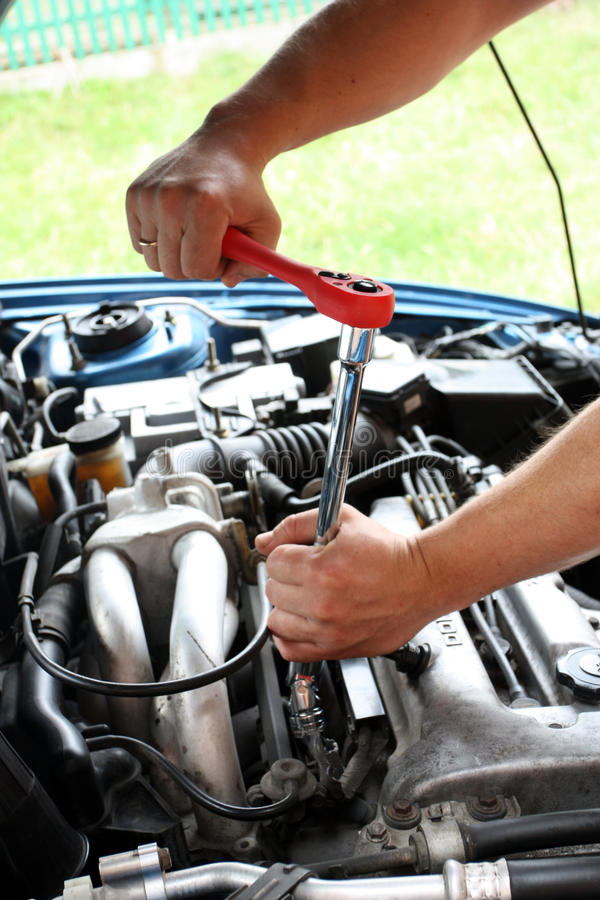 Car repairs process by means