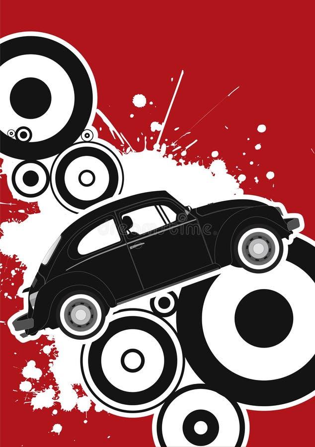 car retro stylish ελεύθερη απεικόνιση δικαιώματος