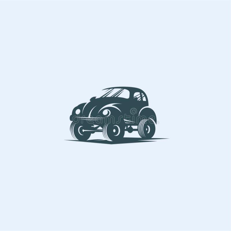 Car. Retrol logo concept for buy vector illustration