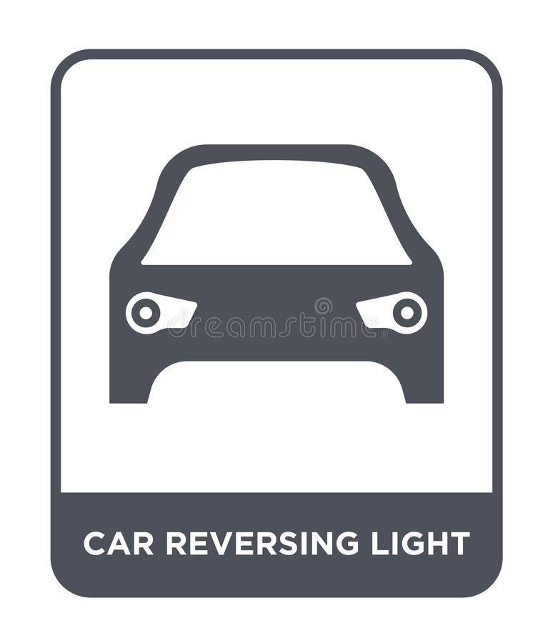 Car reversing light icon in trendy design style. car reversing light icon isolated on white background. car reversing light vector. Icon simple and modern flat vector illustration