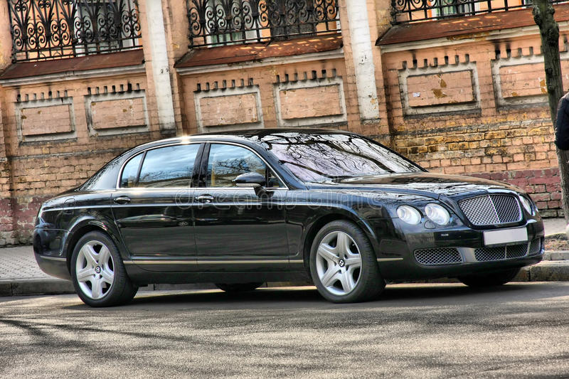 Car rich BENTLEY Flying Spur stock photo