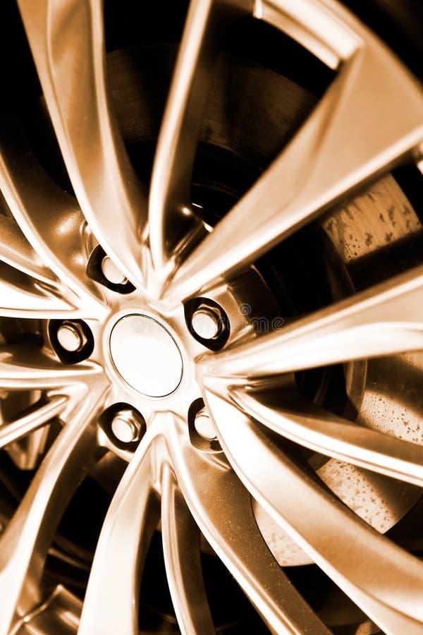 Car rim. Aluminum alloy car rim close-up stock images